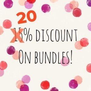 Bundle 2 or more save 20%